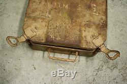 WW2 German Original Tellermine 42 Mine Box Case Wehrmacht Dated 1942 Tan Afrika