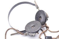 WW2 German PANZER MODEL B HEADPHONE SET. (Doppel Kopffernhörer)