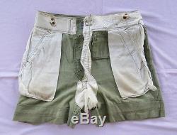 WW2 German Tropical Trousers DAK PANZER SHORTS Original North Africa Desert XX