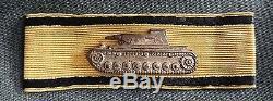 WW2 German Very Rare original Tank Destruction Badge in Gold