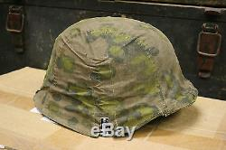 WW2 German Waffen SS Oak A Type 1 Helmet Cover Reproduction Original Material