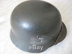 WW2 German helmet m35 original paint, skin ET64