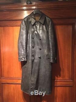 WW2 German original GESTAPO Knebl & Ditrich Great Coat leather XXElite Wehrmacht