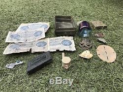 WW2 Lot of various items from the German bunker Stalingrad. Original