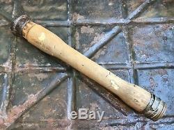 WW2 M24 wooden handle from the German bunker Stalingrad. 1940. Original