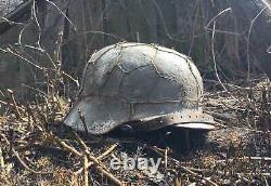WW2 M40 German Helmet WWII M 40. Combat helmet. Big size
