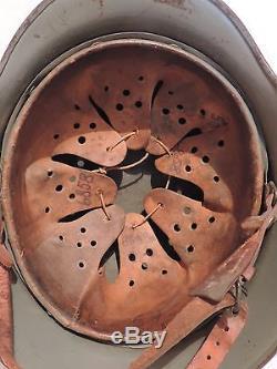 WW2 M40 Q64 German Helmet Original Casque, stahlhelm, elmetto