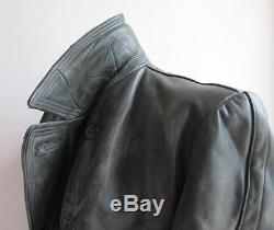 Ww2 Original German Wehrmacht Officer Leather Greatcoat
