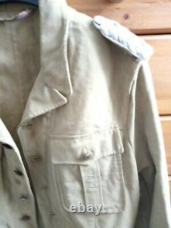 WW2 Original German Afrika Kreigsmarine Officer's Tropical Tunic