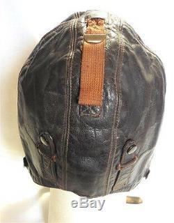 WW2 Original German Air Force FK-33 Leather Flying Helmet