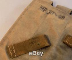WW2 Original German Army Web MP38/MP40 Ammunition Pouches, Matched Pair