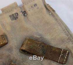 WW2 Original German Army Web MP38/MP40 Ammunition Pouches, Matched Pair