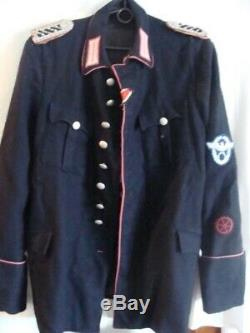WW2 Original German Fire Protection Police officer Uniform and Cap