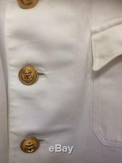 WW2 Original German Krigesmarine Summer Stand Up Collar Tunic
