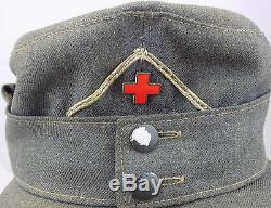 WW2 Original German Red Cross Officer's Field Cap