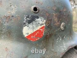 WW2 Original German helmet M35 64 EF