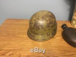 WW2 Original German helmet + liner DAK afrika korps M40 Q64