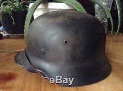 WW2 Rare original german SS helmet named and double decals original paint