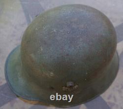 WW2 WW1 GERMAN HEER DD Army Helmet w Liner Transitional WWII WWI