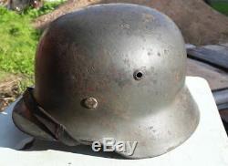WW2 WWII Full Original German Helmet M35 EF62