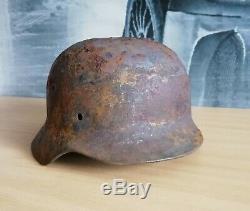 WW2 WWII Original German Helmet M40 ET68 #4868