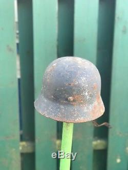 WW2 WWII Original German Helmet M40, Winter Camo, Size 63