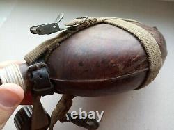 WW2 german M31 TROPICAL CANTEEN. (Tropen Feldflasche 31) marked HRE 43