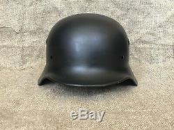 WW2 original German helmet M40, black / Waffen SS