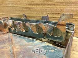 WW2 original German metal carrying box from Stalingrad bunker. Size 13X24X30 cm
