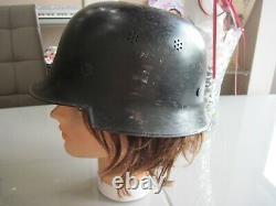WWI-WWII GENUINE German luftschutz polizei police 100% original M-34 Stahlhelm