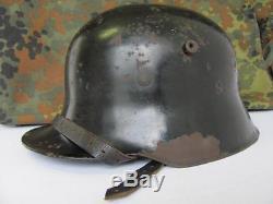 WWII 1930s ORIGINAL GERMAN TRANSITIONAL M16 M17 ELITE FORCES HELMET XTR. RARE