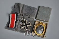 WWII GROUP German Leitz BEH 7x50 Kriegsmarine Binoculars + Awards Original WW2