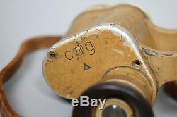 WWII German 6x30 Dienstglas CAG Swarovski Binoculars Original Tan Painted