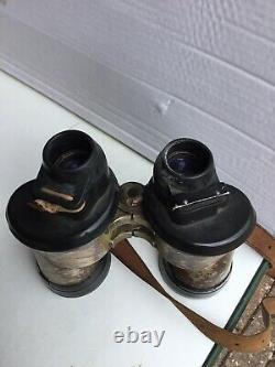 WWII German Carl Zeiss Jena 7x50 Kriegsmarine U-boat Binoculars BLC Original WW2