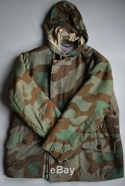 WWII German Splinter Camo Winter Parka Original Uniform Splittertarn Wendejacke