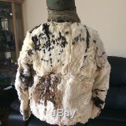 WWII German original fur winter jacket and cap Stalingrad