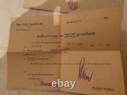 WWII Wehrpass, Recruitment Documents, Etc Original Documents of German Soldier