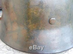 WWII original m35 German infantry camouflaged combat helmet stahlhelm casco elmo