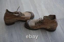 Walking shoes nailed sole for German tropical uniform DAK near mint Original WW2
