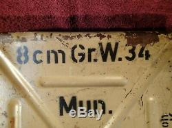 Well Marked Ww II Nazi Germany German Ammo Metal Box Canister All Original
