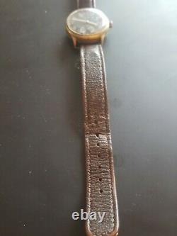World War 2 Helma German Army watch with DH marking Original leather strap