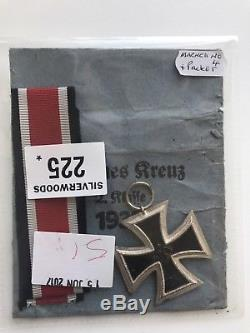 Ww2 1939 German Iron Cross (2nd Class) With Original Ribbon And Envelope