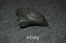 Ww2 Era German Reich Gott Mit Uns Military Buckle (rzm M4/24) Fll Original