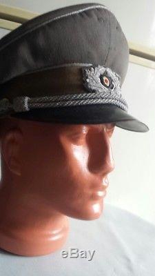 Ww2 Genuine Original German Wehrmacht Officers Cap