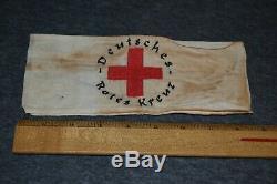 Ww2 German Deutsches Rotes Kreuz Red Cross Combat Medic Armband Original