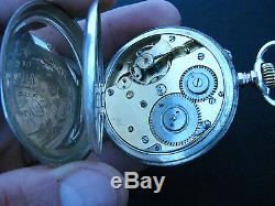 Ww2 German Kriegsmarine Glashutte Chronometer Silver Pocket Watch Original Case