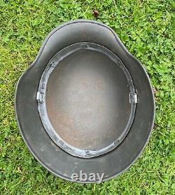 Ww2 German M40 Steel Helmet 1944 Dated Liner Band, Et 64. Untouched Original