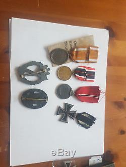 Ww2 German Medals, And Combat Badges, All Original L@@k