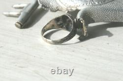 Ww2 German Original Ring silver 835 Bodenfund schmuck antike silber