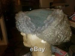 Ww2 German Original Winter Hat Rabbit Fur Heer Cap Wwii Elite Army Panzer Eagle
